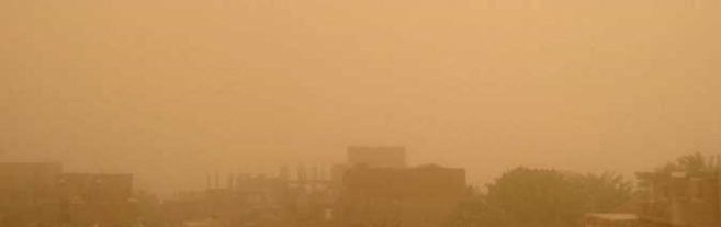 Dusty weather in Egypt
