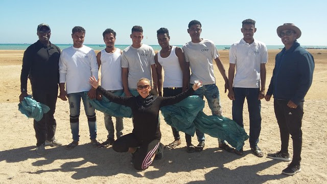 Go Investment clean-up2 Al Ahyaa beach clean up is a Success near Aqua Palms Resort Uncategorised