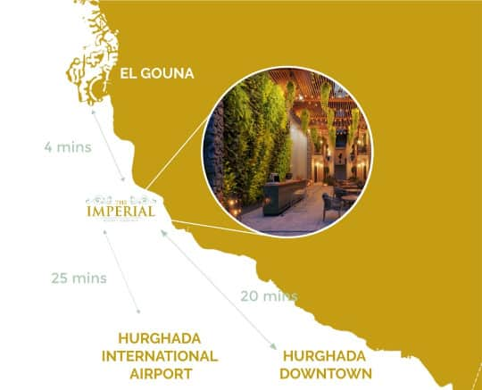 Imperial Resort Hurghada location